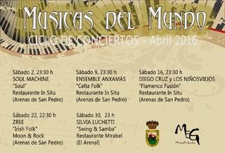 Cartel Musicas del Mundo